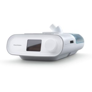Philips Respironics Dreamstation bipap auto sleep apnea machine with humidifer side